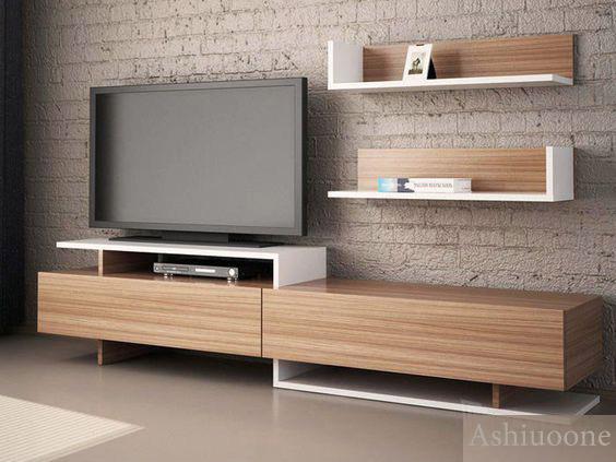 میز تلویزیون همراه شلف دیواری