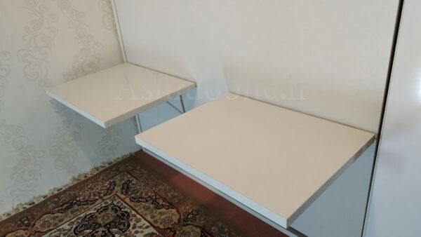تخت تاشو دیواری با میز تحریر