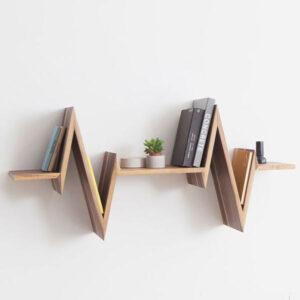 شلف دیواری چوبی